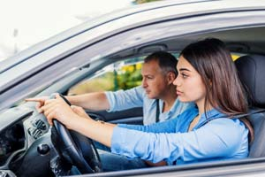 Driving lessons with male instructor