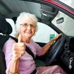 Female senior driver